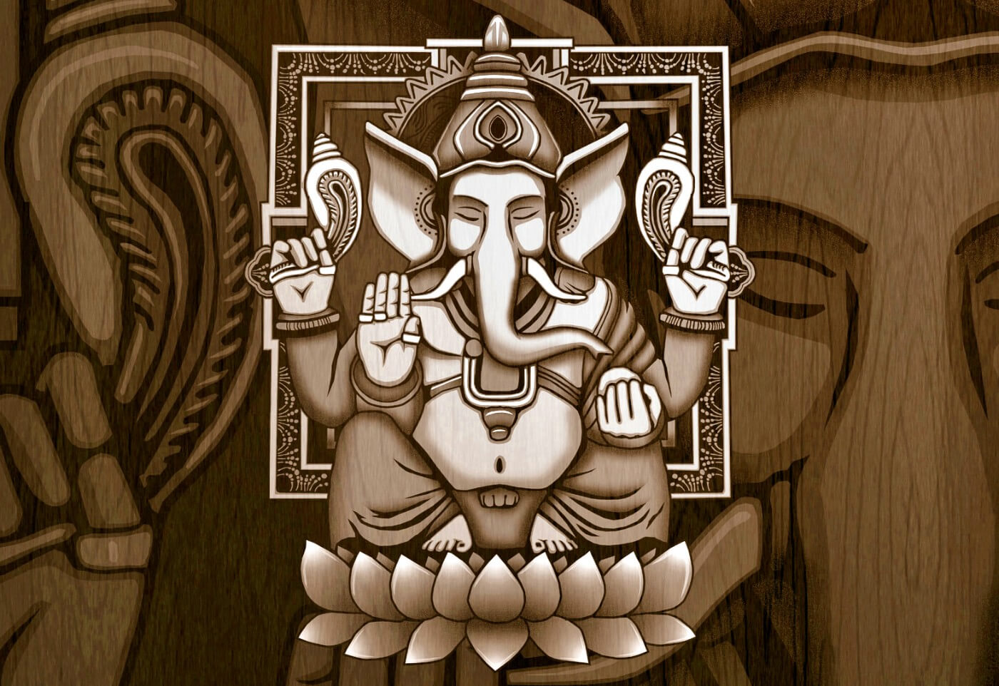 Ganesha Paintings — Ganesha Old Vintage Paintings | Buy Posters, Frames, Canvas, Digital Art & Large Size Prints