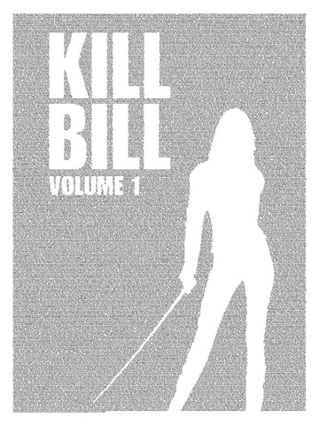 Digital Art - Kill Bill Volume 1 - Entire Screenplay In Background - Hollywood Collection