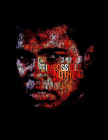 Digital Art - Muhammad Ali - Impossible Is Nothing