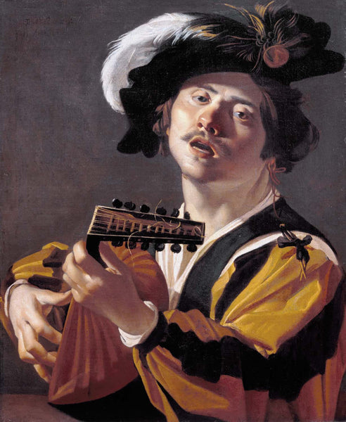 The Lute player - Art Prints