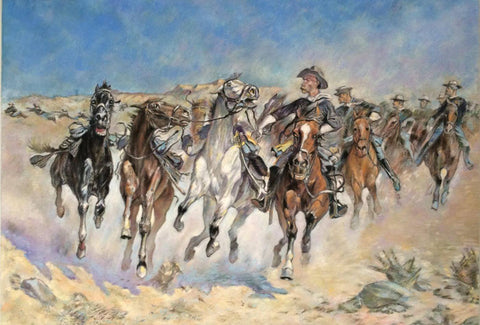 Dismounted - Trooper Moving  -  Frederic Remington