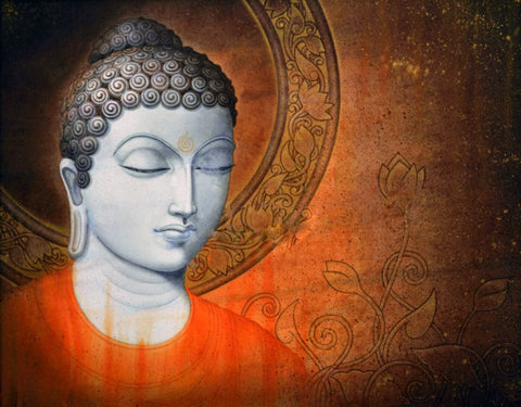 Divine Buddha Contemporary Art - Tallenge Buddha Painting Collection