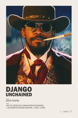 Django Unchained - Jamie Foxx - Tallenge Quentin Tarantino Hollywood Movie Poster Collection by Joel Jerry