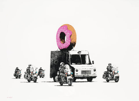 Donut (Strawberry) - Banksy by Banksy