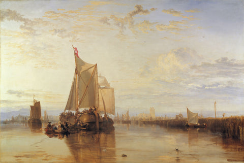 Dort or Dordrecht: The Dort Packet-Boat from Rotterdam Becalmed by J. M. W. Turner