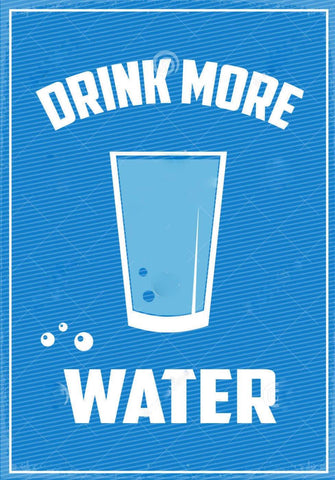 Drink More Water by Tallenge Store
