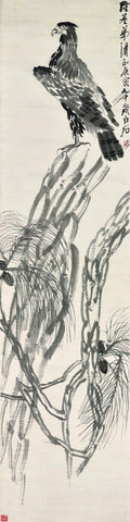 Eagle On Pine Tree - Qi Baishi
