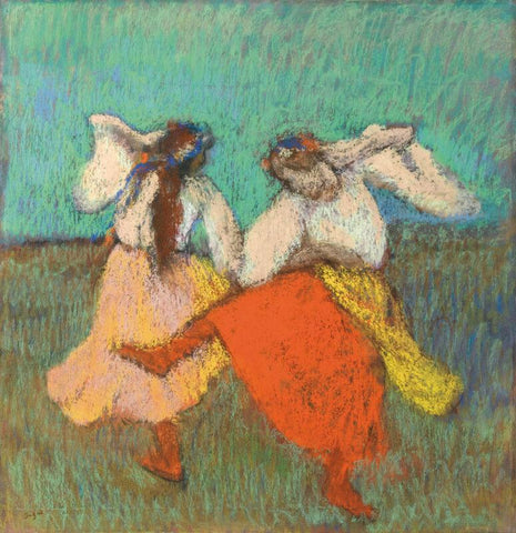 Untitled-(Dancers With The Red And Yellow Skirts) - Canvas Prints