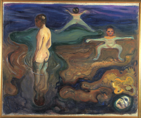 Bathing Boys - ( Bading Gutter) - Edvard Munch