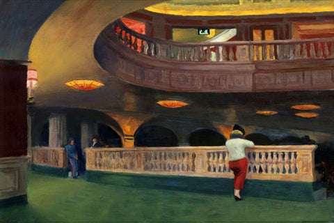 Edward Hopper - Sheridan Theater by Edward Hopper