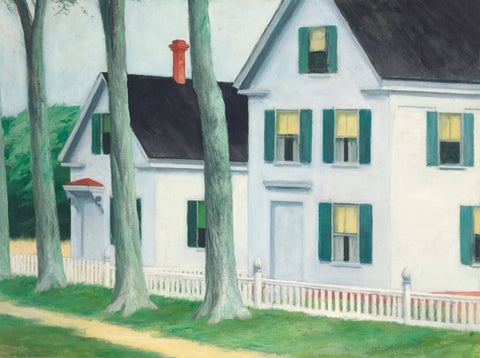 Edward Hopper - Two Puritans by Edward Hopper