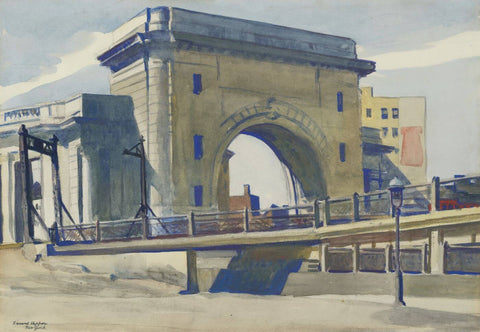 Manhattan Bridge Entrance - Edward Hopper by Edward Hopper