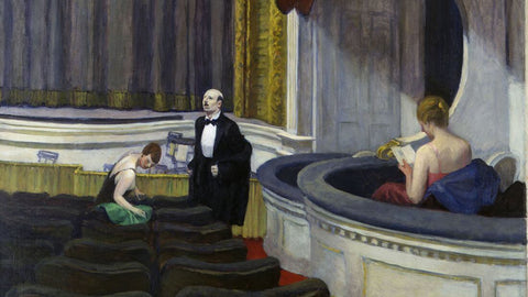 Edward Hopper - Two on the Aisle 1927 by Edward Hopper