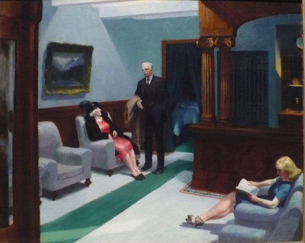 Edward Hopper- Hotel Lobby - Framed Prints