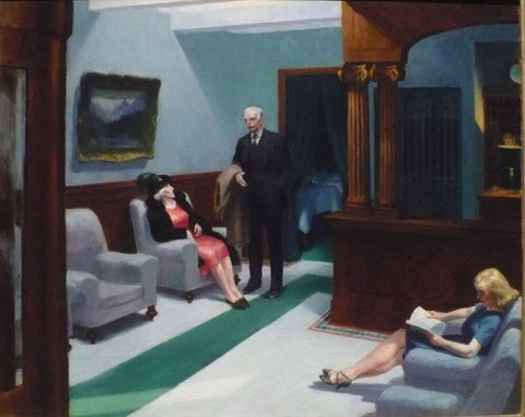 Edward Hopper- Hotel Lobby by Edward Hopper