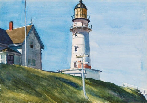 Edward Hopper - The Lighthouse At Two Lights by Edward Hopper