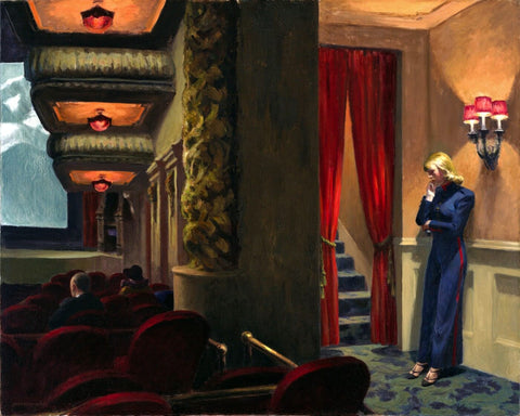 Edward Hopper - New York Movie by Edward Hopper
