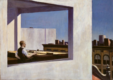 Office in a Small City by Edward Hopper