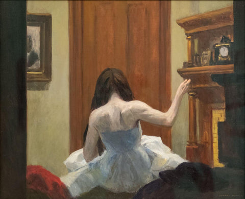 Edward Hopper - New York Interior by Edward Hopper