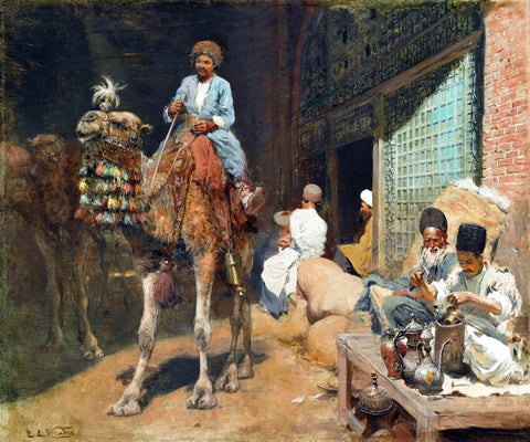 Edwin Lord Weeks - A Market in Ispahan