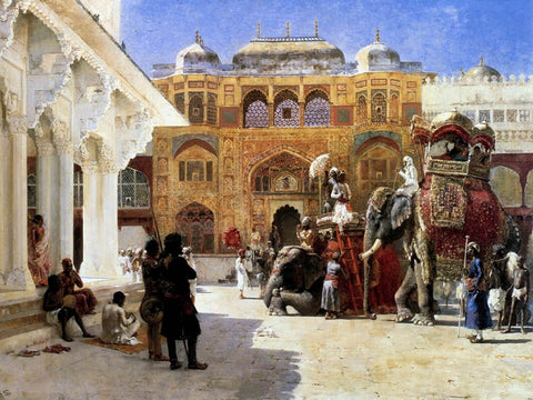 Arrival Of Prince Humbert The Rajah At The Palace Of Amber  - Edwin Lord Weeks