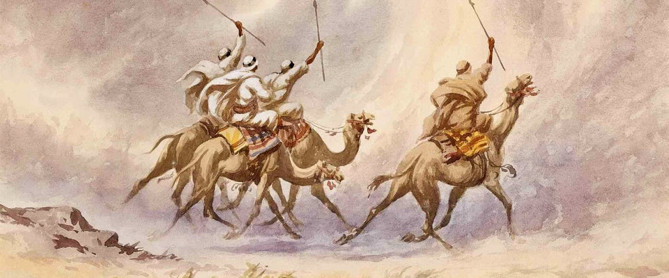 A Camel Charge - Edwin Lord Weeks by Edwin Lord Weeks | Buy Posters, Frames, Canvas  & Digital Art Prints