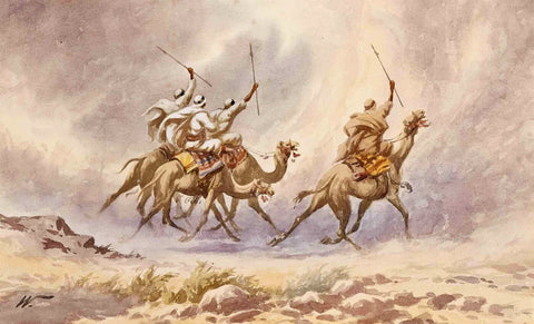 A Camel Charge - Edwin Lord Weeks