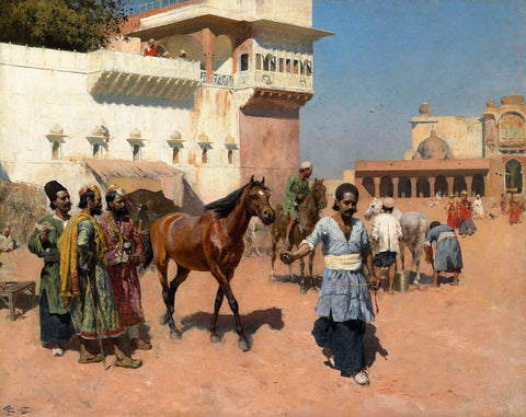 Edwin Lord Weeks - Persian Horse Dealer Bombay