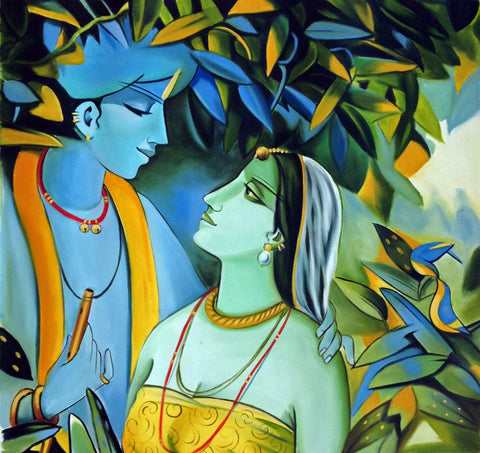 Enchanting Krishna with Radha