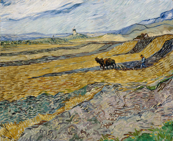 Enclosed Field with Ploughman - Art Prints