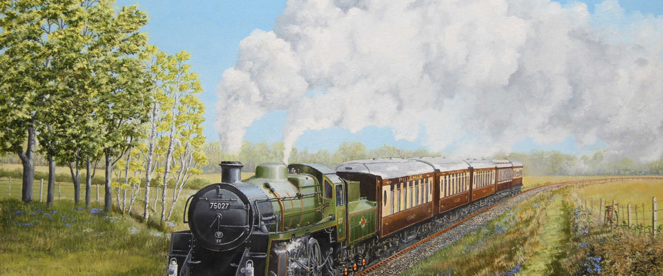Every Child Loves Trains - Painting by Hamid Raza | Buy Posters, Frames, Canvas  & Digital Art Prints