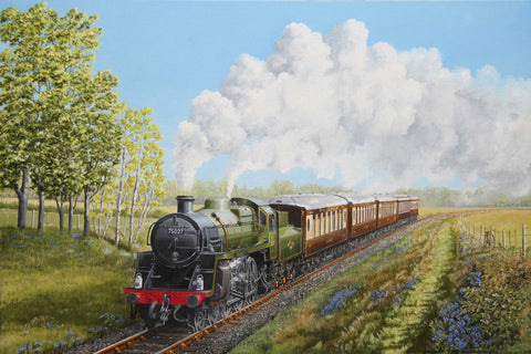 Every Child Loves Trains - Painting