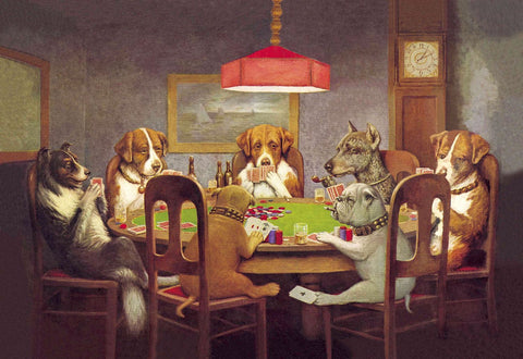 Dogs Playing Poker - Posters by Cassius Marcellus Coolidge