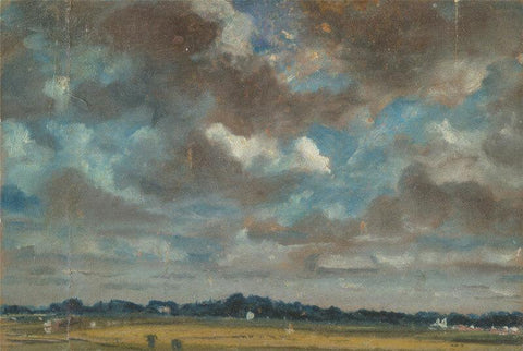 Extensive Landscape With Grey Clouds - Life Size Posters