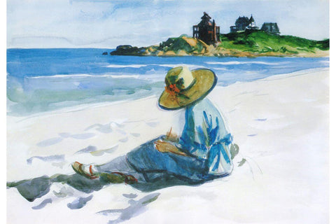 Jo Sketching at Good Harbor Beach (Watercolor) – Edward Hopper by Edward Hopper
