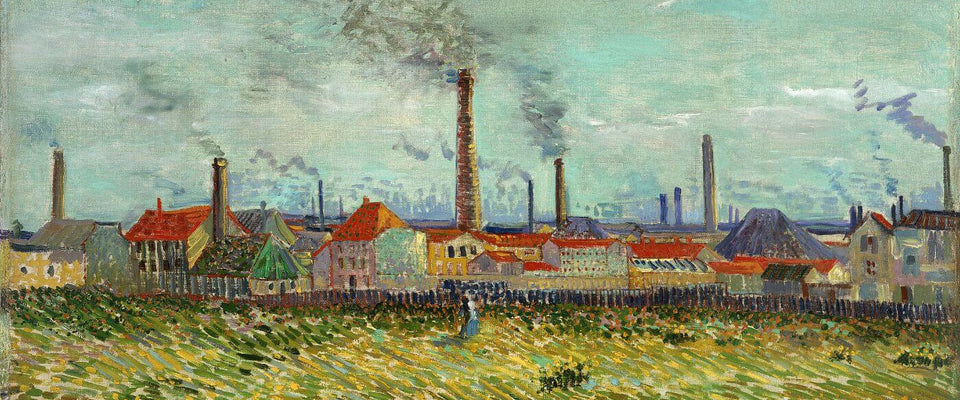 Factories at Asnieres Seen from Clichy - Vincent van Gogh by Vincent van Gogh | Buy Posters, Frames, Canvas  & Digital Art Prints