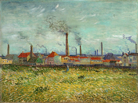Factories at Asnieres Seen from Clichy - Vincent van Gogh
