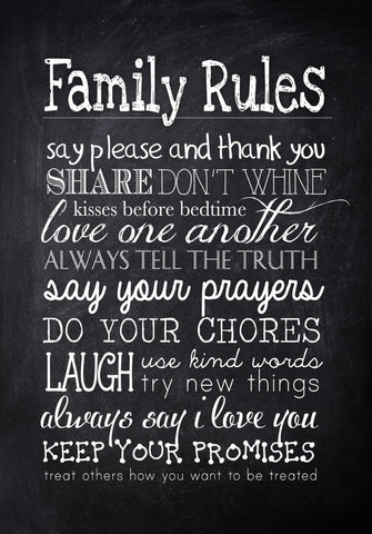 Family Rules by Tallenge Store