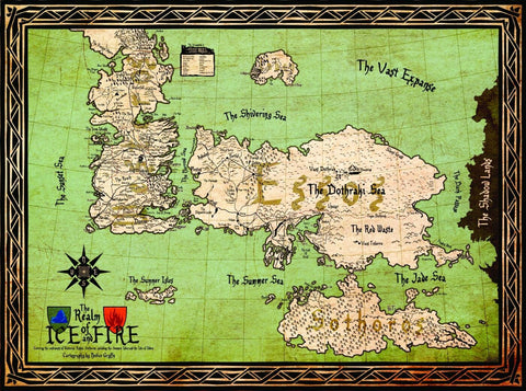 Fan Art From Game Of Thrones - Map of Essos