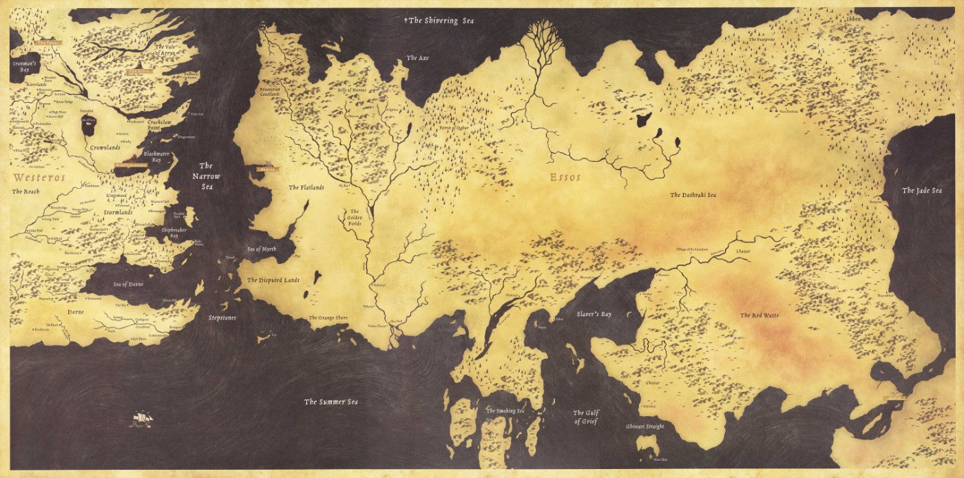 Fan Art Poster - Game Of Thrones - Map Of The Seven Kingdoms - TV ...