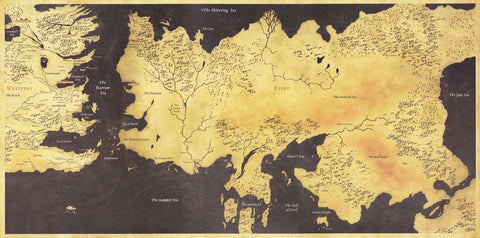 Fan art poster game of thrones map of the seven kingdoms tv fan art poster game of thrones map of the seven kingdoms tv show gumiabroncs Gallery