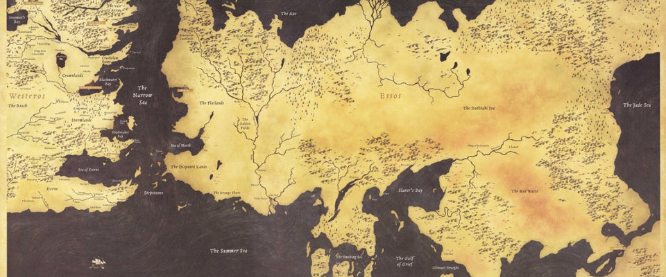 Fan Art Poster - Game Of Thrones - Map Of The Seven Kingdoms - TV Show  Collection