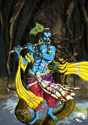 Fantasy Art - Digital Painting - Krishna Kanhaiya