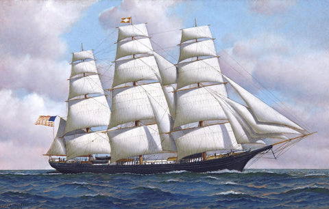 Fast Sailing Clipper by Sina Irani