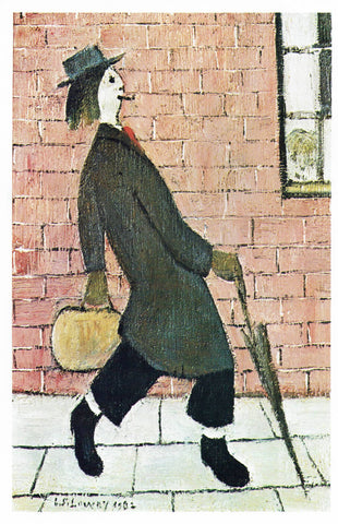 Father Going Home - L S Lowry