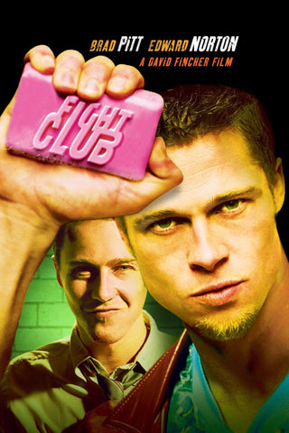 Fight Club - Brad Pitt - Ed Norton - Hollywood Cult Classic English Movie Poster - Posters by Alice