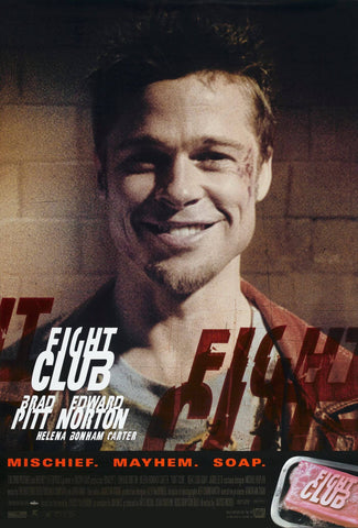 Fight Club - Brad Pitt - Hollywood Cult Classic English Movie Poster - Posters by Alice