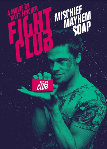 Fight Club - Brad Pitt - Soap - Hollywood Cult Classic English Movie Poster - Posters by Alice