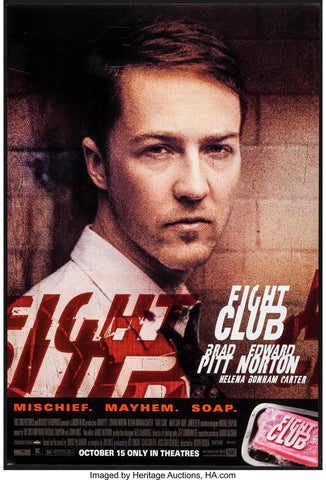 Fight Club - Ed Norton - Hollywood Cult Classic English Movie Poster - Posters by Alice