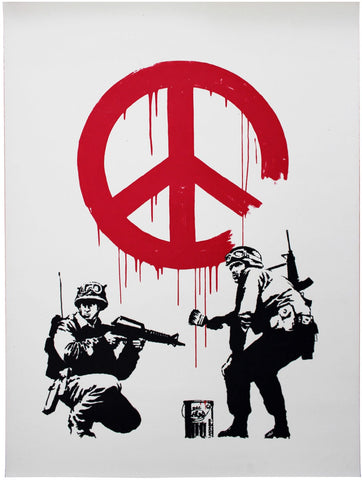 Fighting For Peace - Banksy